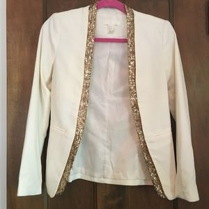 H&M Open Front Blazer With Sequin Detail